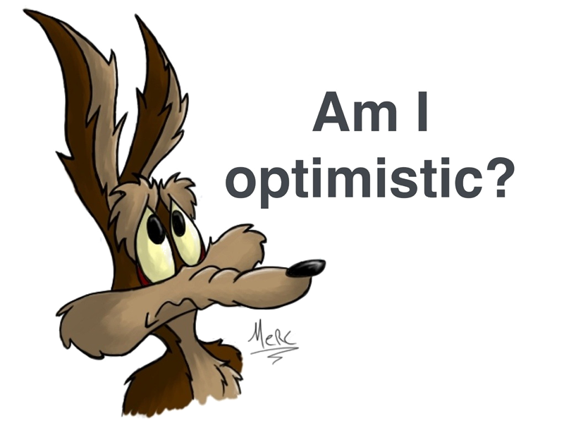 Wile E Coyote, Optimism and the Corporate World