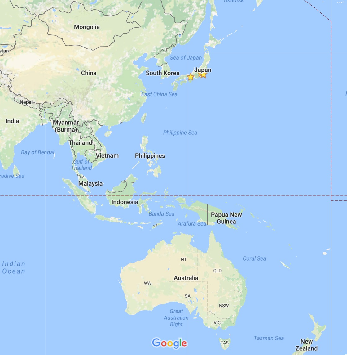 China On Map Of Asia.Asia Pacific Japan China Six Seconds