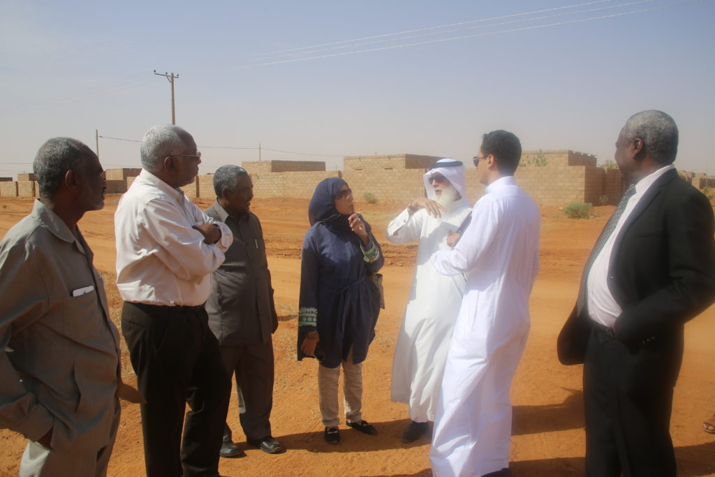 Saudi and Sudan Operational Team sight visiting the housing project in Sudan